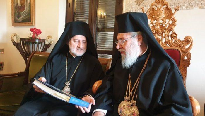 С Предстоятелем Кипрской Православной Церкви Архиепископом Хризостомом II