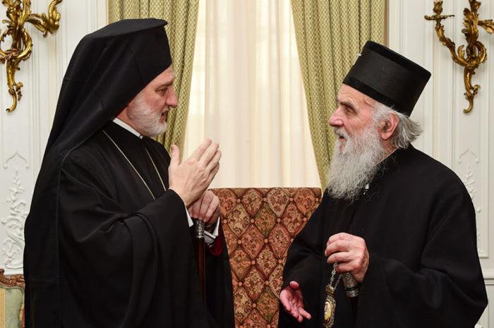 С Предстоятелем Сербской Православной Церкви Патриархом Иринеем