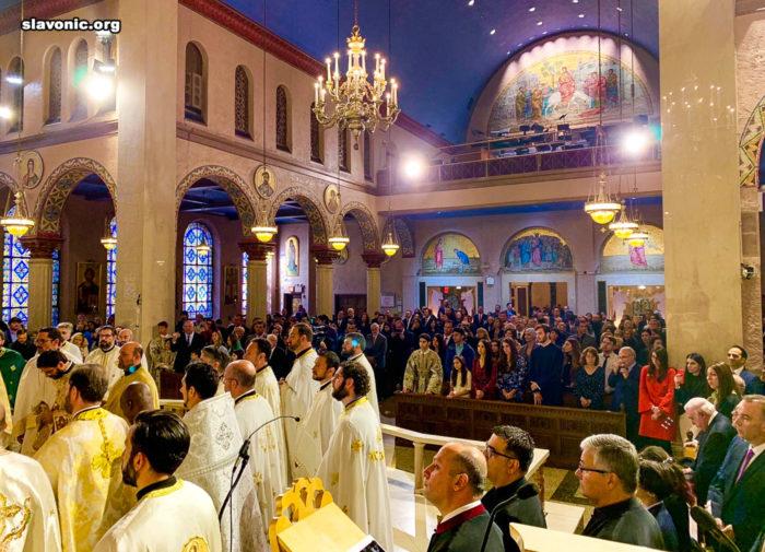Богослужение в Троицком греческом соборе Нью-Йорка
