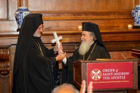 С Предстоятелем Иерусалимской Православной Церкви Патриархом Феофилом III