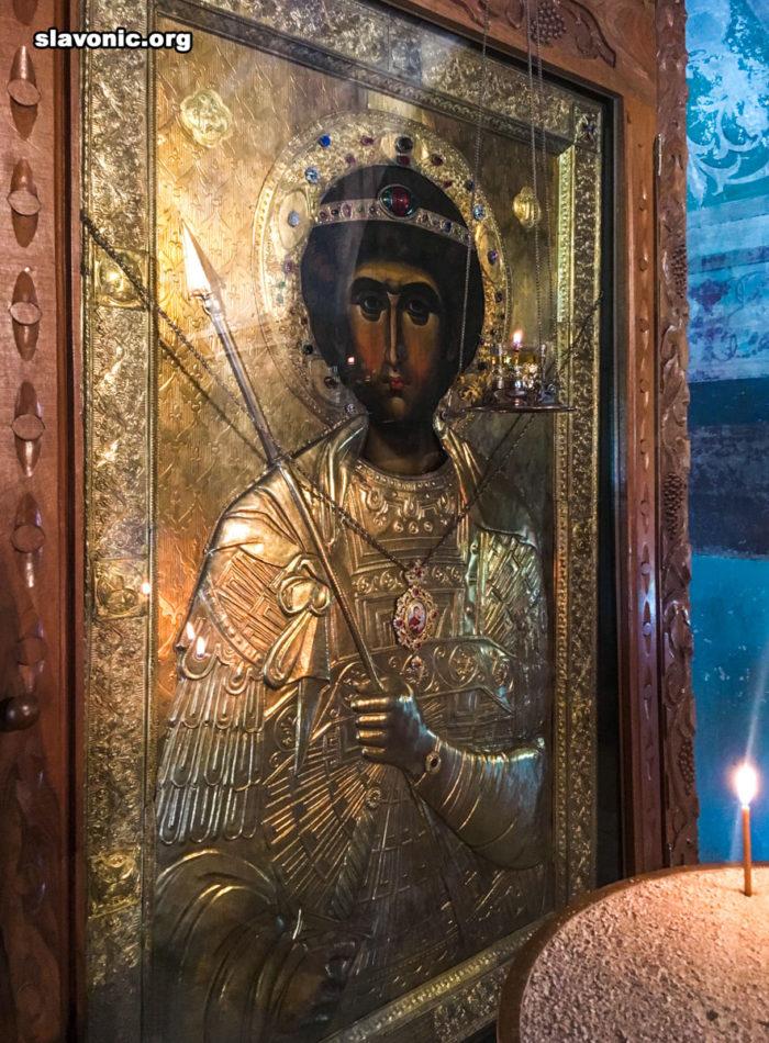 Икона святого Георгия в Сионском соборе