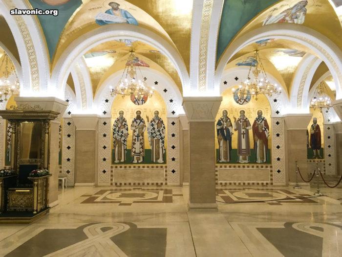 Посещение строящегося собора святого Саввы Сербского в Белграде