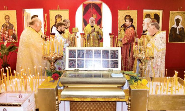 2020. Архиепископ Елпидофор освятил центральный купол Майамского собора