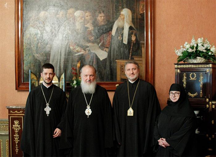 С Предстоятелем Русской Православной Церкви Патриархом Московским Кириллом