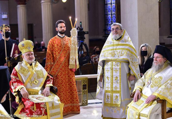 Представители Славянского Викариатства поздравили архиепископа Елпидофора с днем небесного покровителя