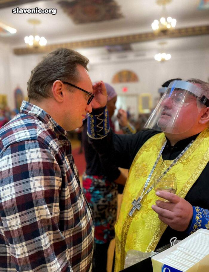 В Славянском Викариатстве совершено первое в Великом посту Соборование