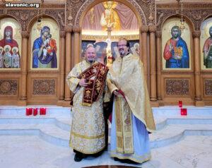 Визит диакона Георгия в собор Святой Софии в Джефферсонвилле, штат Пенсильвания